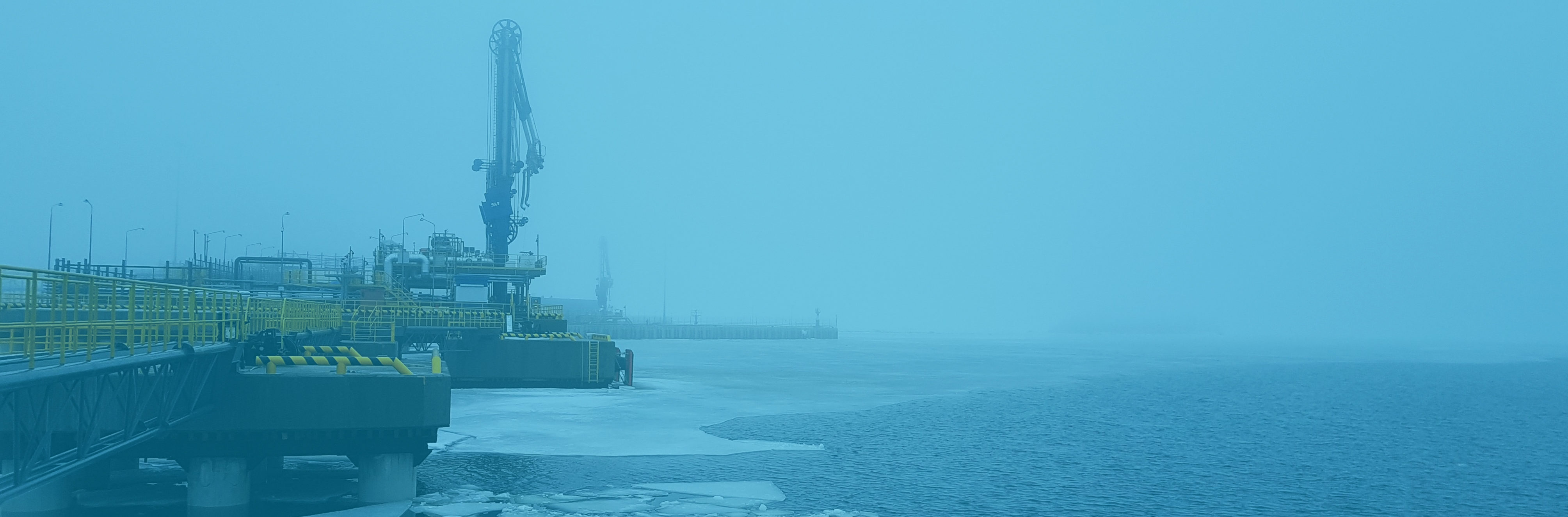 Equipping the Cryogas Vysotsk Terminal