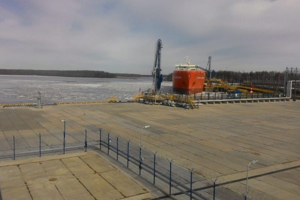 LNG carrier bunkering at Vysotsk Terminal